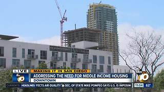 Making It in San Diego: Need for middle-income housing - Video