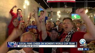 Local soccer fans celebrate Women's World Cup team
