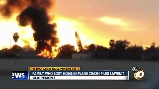 Clairemont family who lost home in plane crash files lawsuit