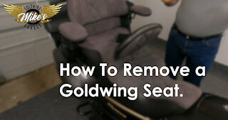 How to Remove the Seat on a 2016 Goldwing