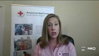 Local Red Cross Volunteers provide relief for Hurricane Laura