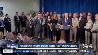 President Trump meets with first responders in Las Vegas
