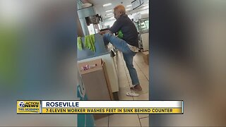 Debate sparked by 7Eleven clerk washing feet at Roseville store