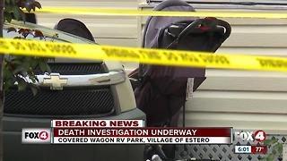 Estero death investigation spans two scenes - Video