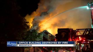 Brookfield Office Building Destroyed By Fire - Video