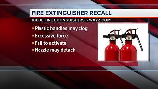 Fire extinguisher recall - Video