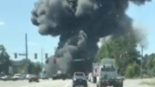 Smoke From C-130 Crash Seen on Road Near Savannah Airport