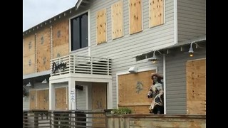 Businesses Along Florida Panhandle Boarded Up Ahead of Hurricane