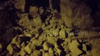Aftermath of powerful earthquake in Italy - Video