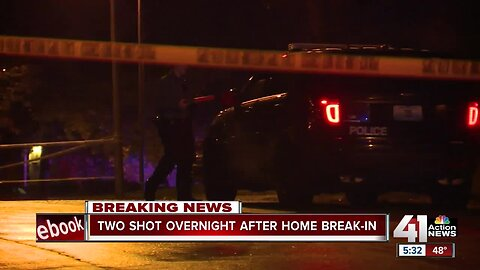 KCPD: Home break-in turns into shooting