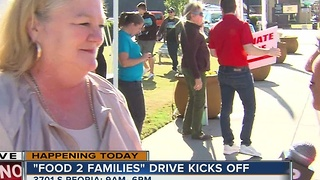 Food 2 Families kicks off at KJRH news station