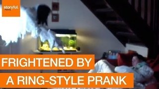 Joker Frightens Girlfriend With a Scary Ring-Style Prank - Video