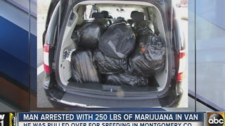 Man arrested with 250 pounds of marijuana - Video