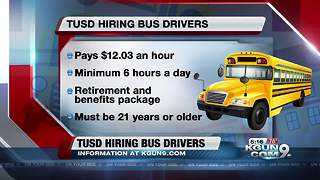 TUSD hiring school bus drivers immediately
