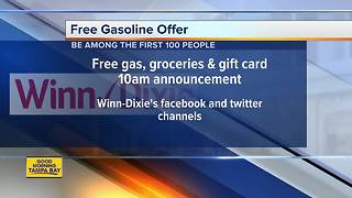 Free gasoline offer through Winn-Dixie - Video