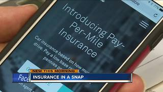 New insurance app allows customers to customize coverage plans - Video