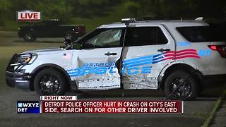 Detroit cop hurt in hit-and-run crash - Video