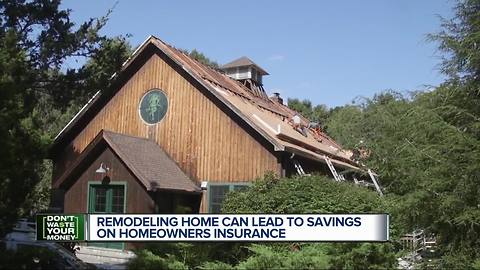 Remodeling your home can lead to savings on homeowners insurance