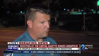 5 dead in targeted attack on Capital Gazette newspaper in Annapolis - Video