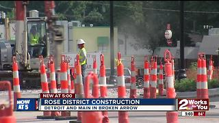 Rose District under construction - Video