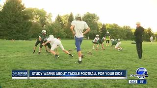 New research claims that tackle football before 12 leads to variety of health issues down the road - Video