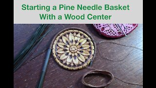 Starting a Pine Needle Basket with a Center