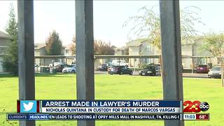 Arrest made in lawyer's murder