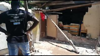 SOUTH AFRICA - Durban - Two people killed in house collapse (Video) (PU6)