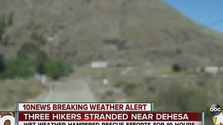 Hikers caught in heavy downpour rescued near Sycuan Casino - Video