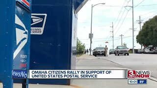 Omaha Citizens Rally in Support of USPS