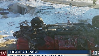 Fatal head-on crash closes US 95 near Tonopah - Video