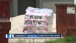 Criminals targeting construction sites - Video