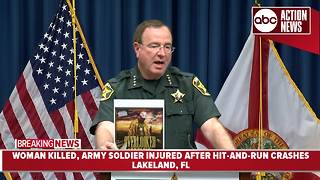 Soldier injured helping woman hit in Polk Co. | News Conference - Video