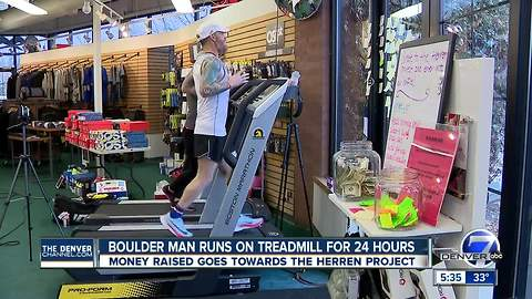 Boulder man runs on treadmill for 24 hours to help fight opioid addiction
