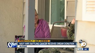 Navy wife battling cancer receives dream bed from Jerome's