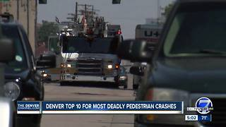 Denver makes list of North American cities with high number of fatal auto-pedestrian crashes - Video