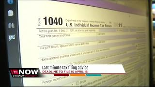 Last minute tax filing advice - Video