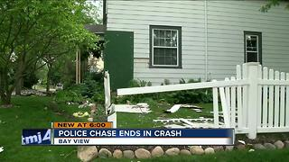 Milwaukee teens lead police on chase, crash into Bay View home - Video