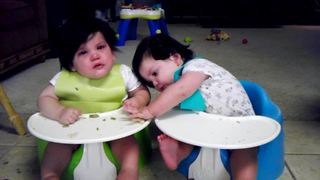 """""""Twins Fighting Over Food"""""""