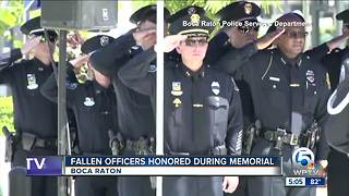 Fallen officers honored during memorial