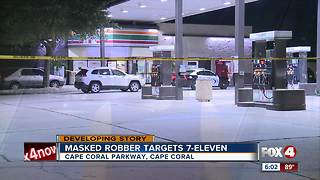 Police search for man after he robs Cape Coral gas station - Video