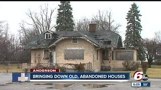 Blight elimination program bringing down abandoned houses in Anderson - Video