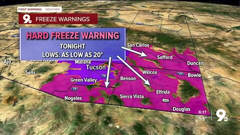 Freeze Warnings in effect for one more night