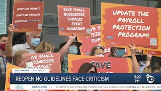 Reopening guidelines face criticism