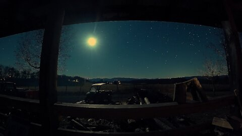 Stunning 4K GoPro porch sunset, moonset and star lapse