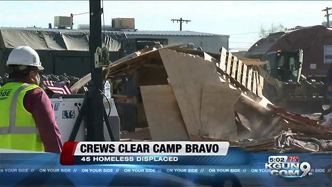 City crews clear homeless camp after eviction