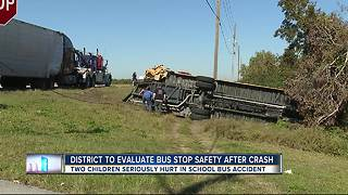 District to evaluate bus safety after crash - Video