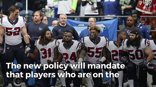 Breaking: NFL Approves New 'Compromise' Anthem Policy - Video