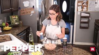Chop and drop chicken and veggies with Elissa the Mom | Rare Life