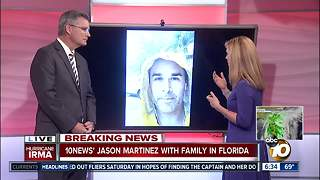 10News anchor joins family stuck in Florida